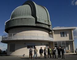 天文台前で記念撮影
