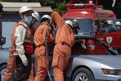 車内からの救出訓練